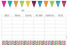Kostenloses Printable: Kunterbunter Stundenplan | Snaply Magazin