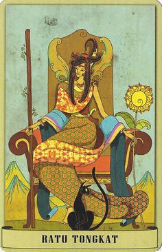 Queen of Wands - Tarot Nusantara