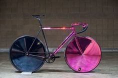 This track bike from Czech Republic builder Festka is definitely the most flashy bike on the floor, featuring an over the top chrome treatment.