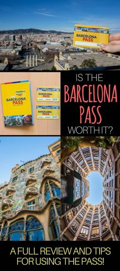 Tips for buying & using the Barcelona Pass, as well as how to calculate if the Barcelona Pass is worth it for your trip to Barcelona Spain. Also loads of advice to help you plan your trip to Barcelona.