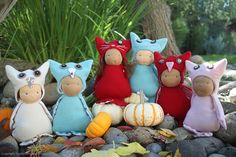 Fall Owls and Kitties by Scarlet Elfcup www.scarletelfcup.com