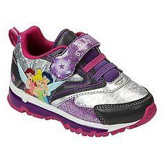 Toddler Girl's Fairies Athletic Shoe - Lilac- Disney