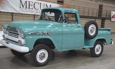 58 Chevy pickup with a NAPCO 4x4 conversion kit. Chevy didn't make factory 4x4's back then. This was a dealer installed optional kit. Fairly rare these days.