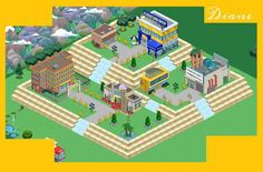 Springfield Simpsons, Springfield Tapped Out, Garden Inspiration, Design Inspiration, Design Ideas, The Simpsons Game, Coffee Shop, Geek Stuff, Adventure