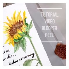 Watch my giggle watercolour tutorial from my tiny house in Sydney Australia art sunflower Tutorial videos are hard to make- see an outtake Watercolor Flowers Tutorial, Watercolor Video, Watercolor Painting Techniques, Watercolor Sunflower, Sunflower Art, Watercolour Tutorials, Painting Lessons, Floral Watercolor, Watercolor Paintings