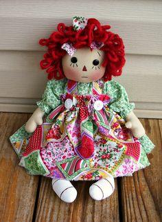 Primitive Raggedy Heidi Doll PDF E Pattern    by appleorchards, $5.00