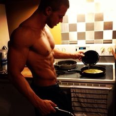 men who can cook is the sexiest thing...well...there is also this hot body..