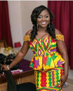 Congratulations to the beautiful Adoma you looked amazing hun. Brides jewel encrusted sleeve kente outfit by Makeup by Photography by Videography by Decor by African Print Dresses, African Print Fashion, Africa Fashion, African Fashion Dresses, African Dress, Ankara Fashion, African Attire, African Wear, African Women
