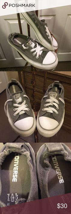 Converse Gray Shoreline Slip-on Women's Size 8 . Gray shoreline slip on  in  great condition as photos show. Converse Shoes Sneakers