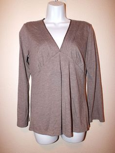 Jones New York Long Sleeve V Neck Womens Top Blouse Size M #JonesNewYork #Blouse #Casual