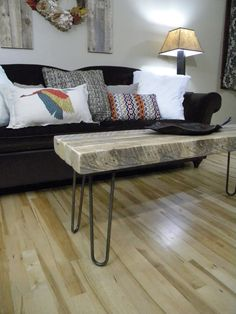 Coffee Table, Reclaimed Wood Table, Rustic Home Decor, Media Console, Barn Wood Furniture, Distressed Furniture, End Table, Side Table on Etsy, $285.00
