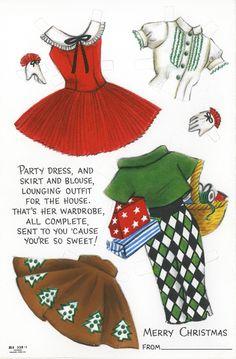 Susan Kay a Hallmark Paper Doll - party dresses