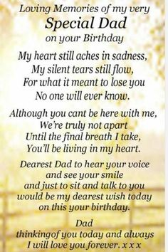 Dad In Heaven Quotes, Daddy In Heaven, Heaven Poems, Father In Heaven, Heavenly Father, Happy Birthday In Heaven, Happy Birthday Daddy, Birthday In Heaven Quotes, Special Birthday