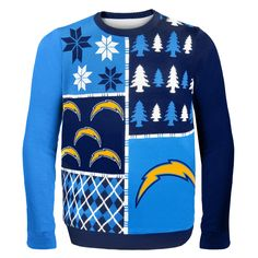 185f9135f San Diego Chargers NFL Ugly Sweater Busy Block All Nfl Teams