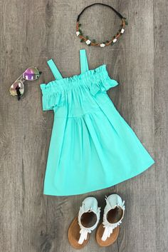Mint Off-Shoulder Dress from Sparkle in Pink