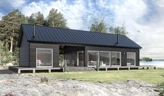 Ever dream of life on the farm? See how these converted barn homes balance rustic style with modern livability and comfort. Modern Wooden House, Modern Barn House, Construction Chalet, Converted Barn Homes, Black House Exterior, Shed Homes, Stone Houses, Dream Home Design, Home Fashion