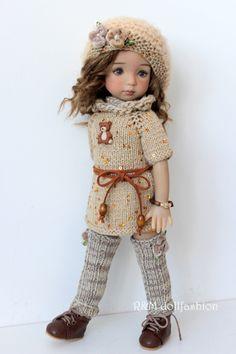 "R&M DOLLFASHION - OOAK COSY LINE outfit for LITTLE DARLING EFFNER 13"" dolls | eBay"