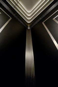One Custom Elevator Cab Interior Ceiling Design, Cabin Interior Design, Lobby Interior, Lift Design, Wall Design, Architecture Details, Interior Architecture, Elevator Design, Reception Desk Design