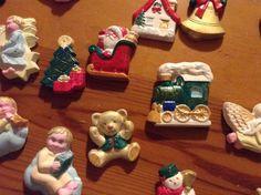 Natale.Formine di polvere di porcellana decorate