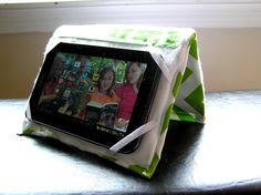 DIY tablet cover/stand.