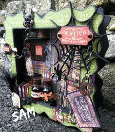The Crippled Crafter: You Bewitch Me - That Craft Place - Shadow Box