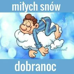 Motto, Good Night, Smurfs, Humor, Disney Characters, Snow, Funny, Polish, Nighty Night