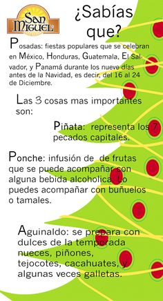 Significado de las posadas, ponche, piñata y aguinaldo información útil con San Miguel