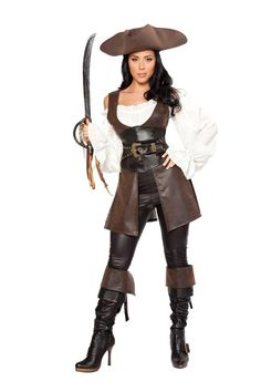 These sexy Halloween costumes for women allow you to play the hottest pirate around Sexy Pirate Costumes, Cheap Pirate Costume, Sexy Wench Costume Sexy Pirate Costume, Pirate Halloween Costumes, Halloween Fancy Dress, Halloween Cosplay, Adult Costumes, Cosplay Costumes, Women Halloween, Halloween Clothes, Costume Dress