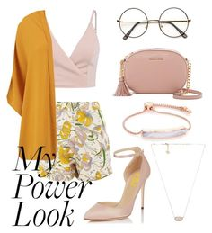 """""""My Power Look"""" by porcelaintaetae ❤ liked on Polyvore featuring Kendra Scott, Glamorous, Boohoo, MICHAEL Michael Kors and Monica Vinader"""