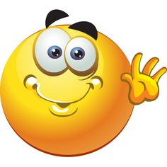 This cheerful smiley is friendly enough to use in a wide array of situations.