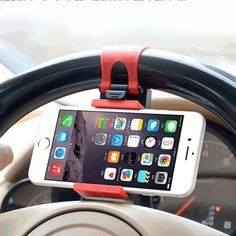 GPS Car Steering Wheel Phone Holder Navigate Bracket Stand Case Cover For iPhone and Samsung