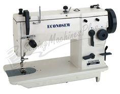 ECONOSEW 20U93 Light & Medium Duty Drop-Feed Zig-Zag Lockstitch Machine w/ Auto Lubrication