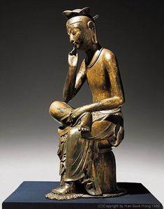 백제시대 미술 백제-금동미륵보살반가사유상  korea Three Kingdom period