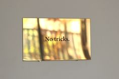 No tricks Brass sign with engraved text / dimensions variable by Mikko Kuorinki