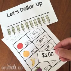 """This set provides students with an explanation and practice work on the """" Dollar Up Method"""", a life skills method for purchasing skills.  Perfect for students with Autism."""