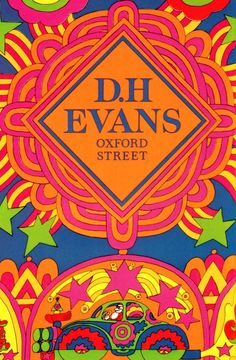 SWEET JANE: Psychedelic Christmas poster: D.H Evans Oxford Street December 1967