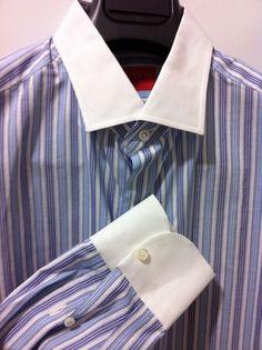 NWT$545 ISAIA  Napoli Italian luxury Sartorial beautiful Shirt  16/41 slim ~40US #isaia