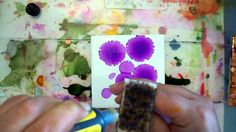 Beginner to Intermediate Alcohol Inks on Tile Tutorial. this is what i want to do with holograph paper and glass. love it