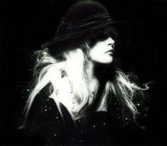 a beautiful black and white photo of Stevie    ~ ☆♥❤♥☆ ~              in profile