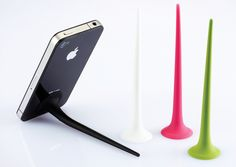 'mobile tail' by studiooo factory, korea. a support stand for portable electronic devices.