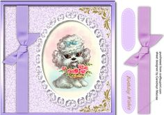 Cute Llittle Doggie  on Craftsuprint designed by Ceredwyn Macrae - A lovely card to make and give with Cute Little Doggie has one greeting tag and a Blank one   - Now available for download!