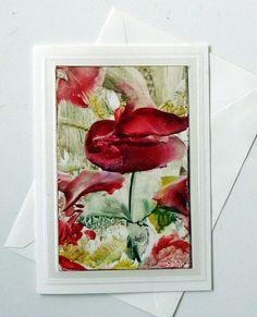 CANCER RESEARCH DONATION Original Encaustic Art by StudioSabine, $20.00