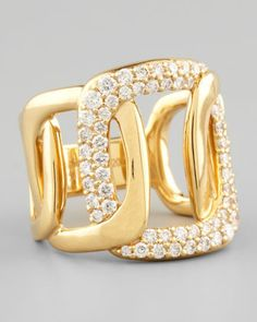 Piece 18k Gold Diamond Station Ring by Mimi So at Neiman Marcus.
