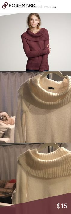J Crew Chalet Turtleneck Sweater J Crew Chalet Turtleneck Sweater, size small, color is cream. I wore this sweater only once for Christmas dinner last year. No stains or rips. J. Crew Sweaters Cowl & Turtlenecks