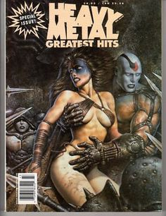 Heavy Metal magazine 1994 Greatest Hits best of issue for sale Heavy Metal Movie, Heavy Metal Art, Metal Magazine, Magazine Art, Magazine Covers, Fantasy Comics, Fantasy Images, Fantasy Pictures, Classic Comics