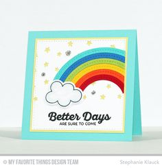 Rainbow of Happiness, Lucky, Inside & Out Stitched Square STAX Die-namics, Stars in the Sky - Vertical Die-namics, Stitched Rainbow Die-namics - Stephanie Klauck  #mftstamps