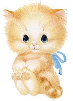 Cat Clipart, Creepy Photos, Lots Of Cats, Tatty Teddy, Kawaii Wallpaper, Baby Prints, Vintage Cards, Cute Cartoon, Cat Art