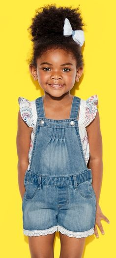 Toddler girls' fashion | Kids' clothes | Denim overalls | The Children's Place