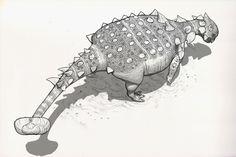 Draw Dinovember Day 11 Euoplocephalus by daitengu on DeviantArt