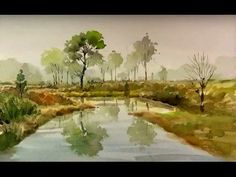 That's easy for landscape watercolor painting - YouTube